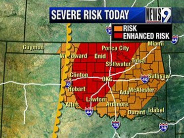 Severe weather risk today