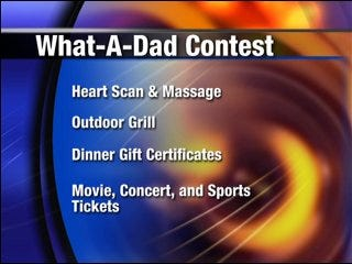 Father's Day prizes offered