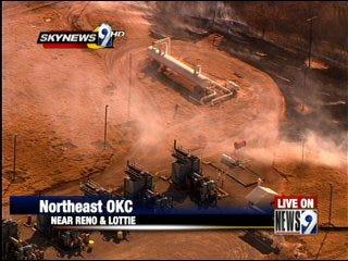 Fire near propane tanks scares residents