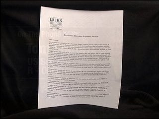 IRS criticized for sending stimulus pre-letters