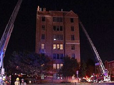 Fire chars high-rise apartment building