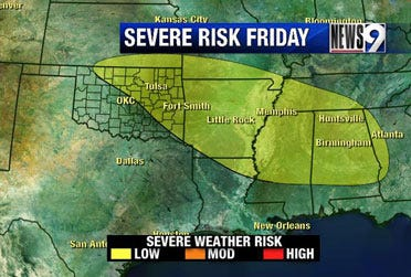 Storms develop in Okla. Friday night