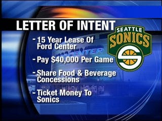 Lawmakers working for Sonics' incentives