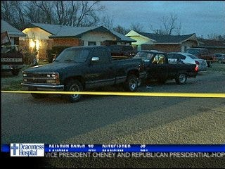 Man shot in the leg, crashes truck