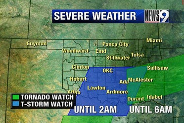 Severe weather in the Sooner state