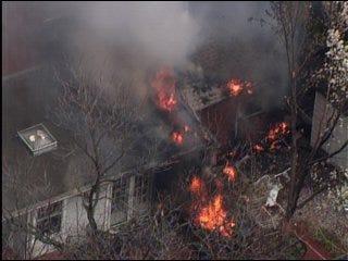Smoke, flames engulf Nichols Hills home