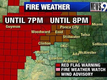 Fire danger high across state