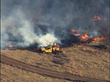 Highway reopened in after grass fire forces closure