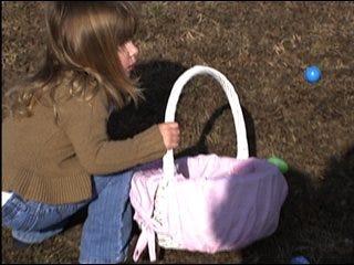 Easter bunny flies into OKC