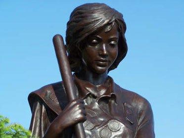 Stolen Girl Scout statue found