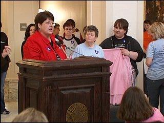 Women's abuse awareness raised at Capitol