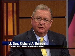 Wiley Post honors Lt. General Richard A. Burpee