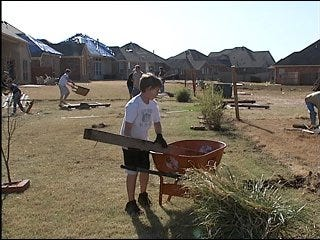 Local church helps clean up after tornado