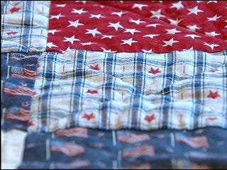Modern day Betsy Ross helps wounded soldiers heal