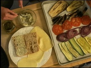 First Lady's Roasted Vegetable Panini