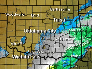 Storm front bypasses metro, blankets southeast Okla.