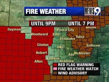 Strong winds and high fire danger Thursday