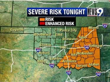 Severe storms likely through Wednesday