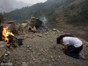 One villager's lament: 'I have lost everything'