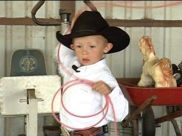 4-year-old cowboy seeks roping title