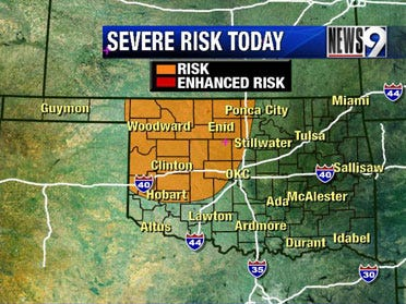 Severe storms possible again Friday