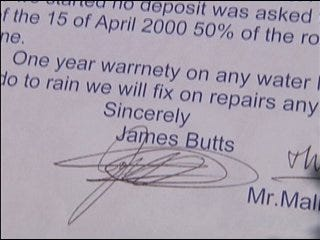 Couple's roofing woes to be repaired