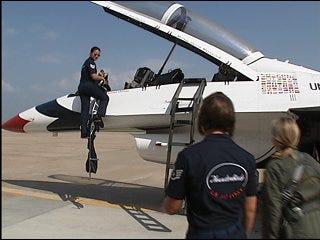 Thunderbirds take to Oklahoma skies