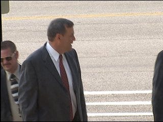 Trooper accused of assaulting coach enters not guilty plea