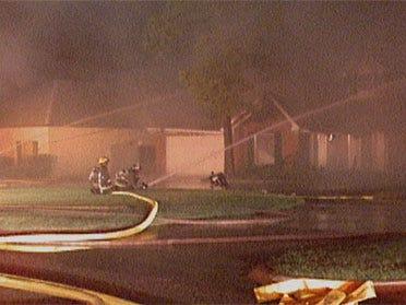 Fire destroys house on Ski Drive