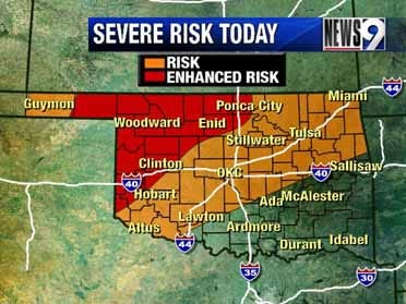 Severe storms possible Monday through Wednesday
