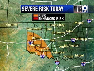 Severe storms possible