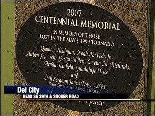 Del City to dedicate tornado victim memorial
