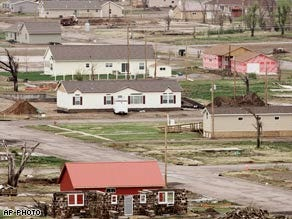 Town destroyed by tornado rebuilds by going green