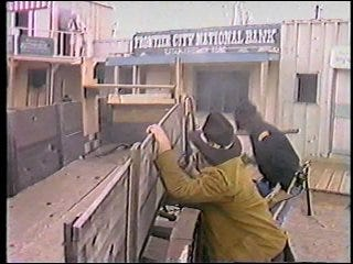 Stunt gunman fights on Frontier City streets