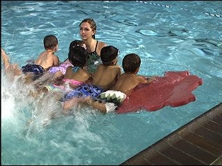 Swim lessons offer relief for parents