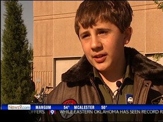 Boy gets to be pilot for a day