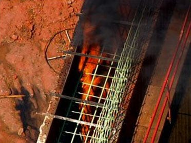 I-40 Crosstown construction site burns