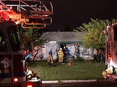 Man catches on fire inside home