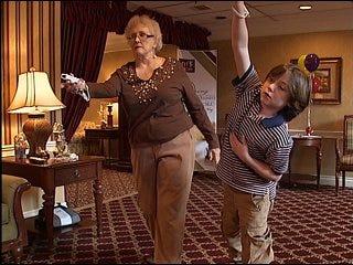 Seniors use Wii workout