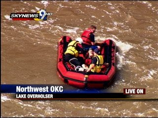 Woman rescued from Lake Overholser Dam