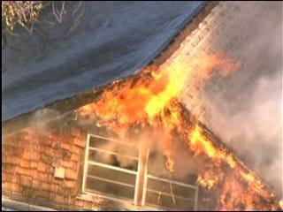 Firefighters Battle OKC House Fire
