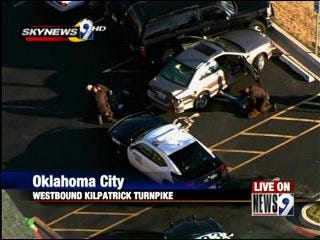 High-Speed Chase Ends in Restaurant Parking Lot