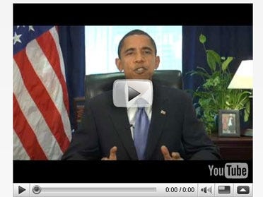Obama's Weekly Address Hits the Blogsphere