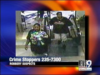 Police search for alleged robbers