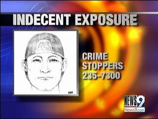 Police search for alleged flasher