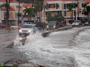 Caribbean getting pounded by Hurricane Omar