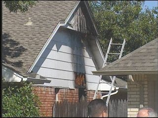 OKC firefighters battled house fire