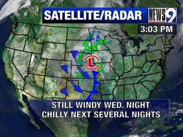 Strong storm system howling through the Central Plains