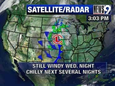 Cold front moves through Oklahoma