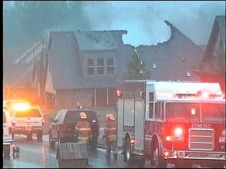 Lightning sparks Edmond house fire